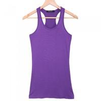 Women's Tank Top Stretch Sleeveless Camisole Racerback Singlet Vest Tops Waistcoat Purple