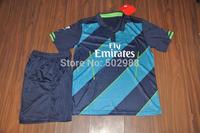Best quality 2014/15 ROSICKY ARTETA PODOLSKI GIROUD WALCOTT RAMSEY S.CAZORLA GIBBS SANOGO CHAMBERLAIN 3rd football soccer kit