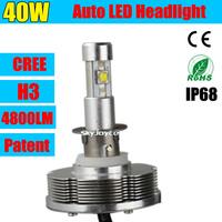 DHL ship 2X CREE Car Led Headlight  20W  H3 Cree LED Headlight Conversion Kit  CREE Chip White Car Fog Light Lamp for SABARU