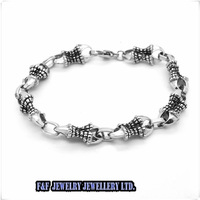 Hot sale Silber Dragon scale & Alondra Chain 316L Stainless Steel Mens Bracelet Silver Tone Mens  Bracelet ,Free Shipping B#61