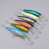 "2015 Top Quality Fishing Lures 5.1""-12.95cm/0.496oz-14.06g fishing tackle 6 color Minnow fishing bait 6pcs/lot freeshipping"