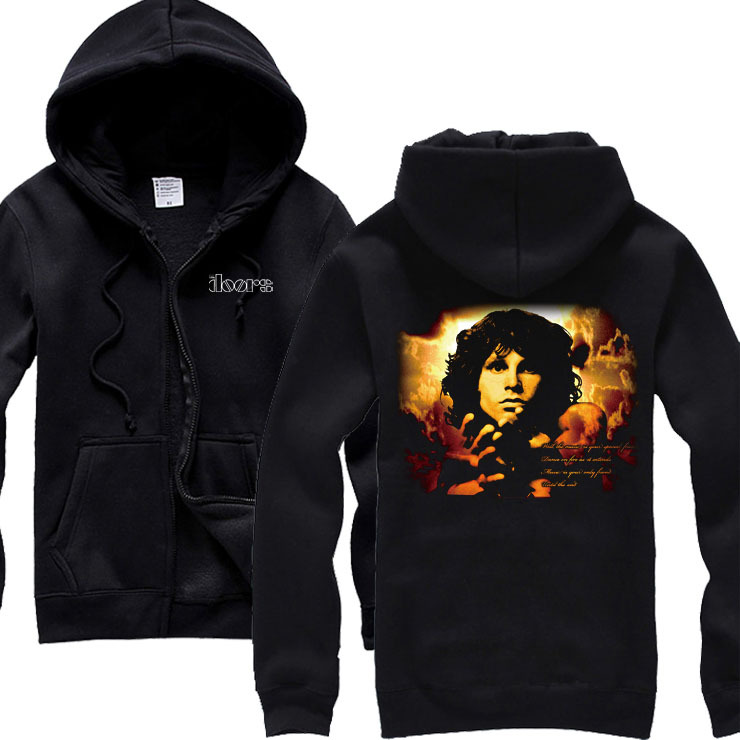 Free shipping NEW THE DOORS BAND / CONCERT / MUSIC Heavy Metal Logo Men's Black 100% cotton hoodie(China (Mainland))
