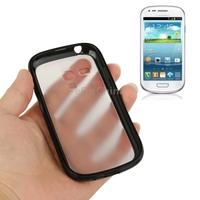 Pure Color Scrub Translucent Plastic Case with TPU Frame for Samsung Galaxy S3 mini i8190