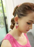 2014 Fashion crystal ball Big Stone cute Earrings earrings for women brand