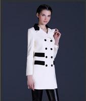 2014 Winter New Fahson Women Wool Coat Woolen Overcoat Free Shipping