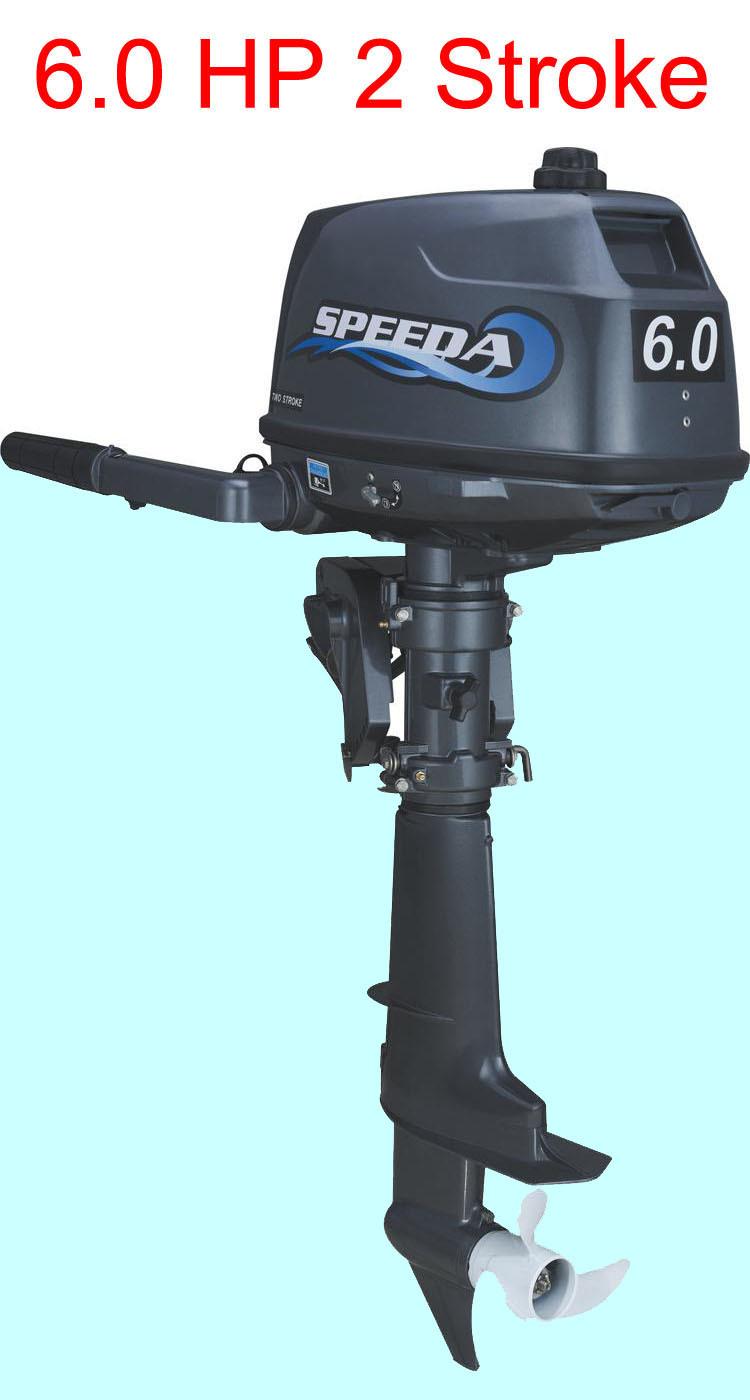2014 SPEEDA atacado e varejos água de refrigeração 2-stroke 6hp motor de popa motores marítimos para barcos com disocunt(China (Mainland))