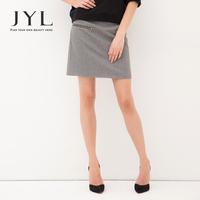 2014 Autumn/Winter JYL Brand Wool winter skirt,fannel wool straight soild skirts for women with metal zip,fashion skirt winter
