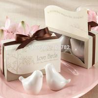 Love birds ceramic salt and pepper Shaker wedding favors and gifts 2PCS/SET