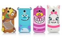 New cartoon Monster university/Cat/dog shape back covers case  for Samsung Galaxy S4 i9500 cartoon case mobile phone case KS4-55