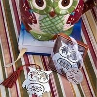 2014 best baby shower favor owl bookmark gifts guest souvenirs keepsakes 100pcs