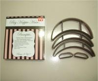 10sets=50pcs [Free DropShipping] NEW Modeling hair clip / Big Happie Hair Curler Hair Styling Hollywood Hair Ornament+box