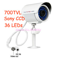 700TVL Sony Effie CCD Outdoor IR Bullet Security Camera 36Pcs Bule LEDs