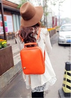 2014 new promotional fashion retro shoulder bag Korean version of the new candy-colored backpack send 037 free