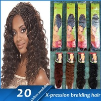 Hot Selling X-pression Ultra Braid Synthetic Hair Extensions 100% Kanekalon Free Shipping 82 inch 1pcs 200-210g