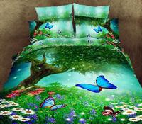 3d bedding set bedspread  linen duvet cover floral bed set bedclothes queen size coverlet pillowcase Home textile