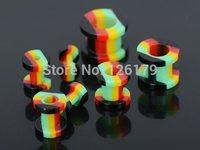 7Pairs/lot 2-10mm Acrylic Ear Plug Tunnel Hollow Flesh Expander Stretcher Gauge Multicolors