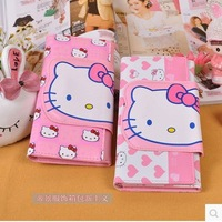 Free Shipping 2013 Lovely Cartoon Hello Kitty Lady  Long Section Of PU Wallet 7013