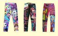 Girl's Monster High Pants Kid's Toddler Leggings Children's Casual Pencil Pant Age 6-16T