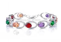 New Arrival  Multicolor Zircon Bracelet For WomenTop AAA Zirconia Bracelets Wristband Jewelry Accessories