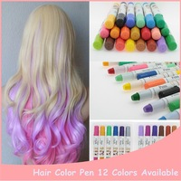 New Star 1pcs 12 Colors Hair Color Professional New Fashion Non-Toxic Temporary Salon Color Hair Chalk Dye Pastels