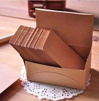 Free Shipping DIY Kraft Card Scrapbooking Paper Christmas Postcard Greeting Postcards Shaper Punch Craft 100pcs postcard
