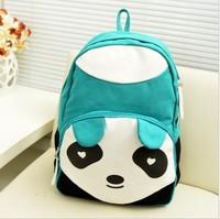 Panda tide canvas bag casual shoulder bag backpack schoolbag factory direct wholesale cute
