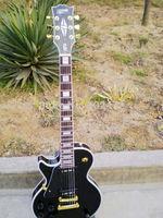 Black Left-handed custom electric guitar