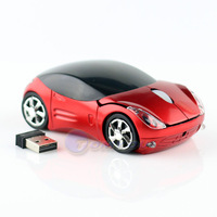 black/blue/red/silver Fashion Gaming Car Wireless Mouse 1600DPI Optical with USB Receiver For PC Laptop Free Shipping