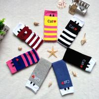 2014 autumn girls knee-high socks new Korean version of the children socks in cotton tube sock cute cartoon socks