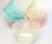12pcs Filigree Vine Cupcake Wrappers Wraps Cases Wedding Birthday Decorations