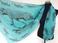 Frayed Edge Oversized Animal Leopard Print Animal Scarf Shawl Wrap Women's Accessories, Free Shipping