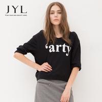 2014 Autumn/Winter JYL Punk Graphic Letter printed sweatshirts,urban hippie casual women sport clothing,brand pullovers sweater