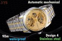 2014 New Brand Fashion Stainless steel Strap Men Automatic Mechanical Watch Self Wind Watch For Men Wrist Watch