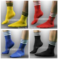 one pair men's short soccer football socks male for  sports fitness gym free shipping