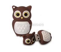 Wholesales genuine cartoon new brown owl 4gb/8gb/16gb/32gb usb 2.0 memory stick pen thumb/drive/gift