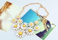 Korean fashion women flower necklace gold chain necklace female sweet beauty