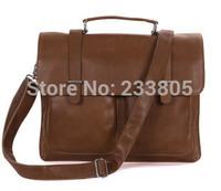 High quality business 100% genuine leather bag Briefcases shoulder bags office bag men messenger bag
