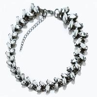 JC100 2014 Fashion Design Women Jewel Gold/Silver Alloy Leaf Statement Chain Choker Necklace For Women No Min Order Best Price