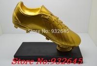 Cool!2014 RESIN 28cm tall Soccer TROPHY,Football Souvenir world cup Golden boot award REPLICA best Golden shoes,Free shipping