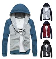 2014 autumn winter coat hoodies polo cardigan movement men leisure coat Cashmere sweater men