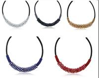 Vintage choker crystal necklace women fashion Necklaces & Pendants statement collar necklace brand jewelry wholesale,12pcs/lot