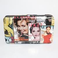 Women's New Hot Fashion PU Fashion Magazine Cover Short Wallet Card Package Clutch Evening Bag Free Shipping