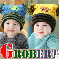 Free Shipping Fashion Winter  children hat baby  ear protector cap pocket hats robot warm hat