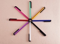 100pcs/lot Mini Pens Capacitive screen stylus touch pen with clip for iphone 4 iphone 5 iPad mini iPad iPod touch for samsung