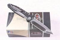 Top quality ! Carbon fiber OEM  MIC Delta TC4 Titanium alloy D2 Steel Tactical Folding Knife Hunting knives Drop shipping