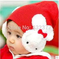 2014 new style fashion baby hat Baby Toddler Kids Boys Girl Winter Ear Flap Warm Hat Beanie Cap Crochet Rabbit Free Shipping