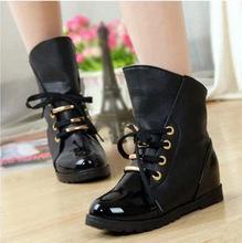 envío gratis al por mayor zapatillas 2014 nueva moda las mujeres los zapatos, cuero genuino el aumento de altura zapatos casual cuñas 1767(China (Mainland))