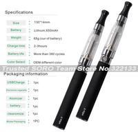 Newest ego Electronic Cigarette Double Cigarettes Kits 2 pcs in 1 Zipper Carry Case 650mAh 900mAh 1100mAh e cig Kit Promotion