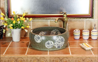 Jingdezhen ceramic art basin basin stage basin basin bathroom sinks hand increase thickening frosted blue and white