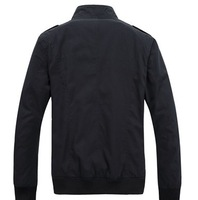 With male outdoor collar jacket unlined upper garment of 2014 autumn winters is recreational coat, pure cotton